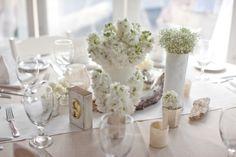 Burlap and White Themed Reception - Beach Weddings at The Sunset Restaurant - Malibu, California - Photography: www.amandabevington.wordpress.com
