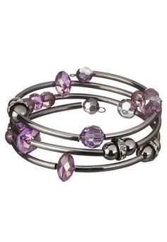 Purple Bead Coil Bracelet available at #Maurices