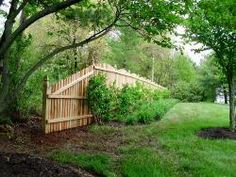 Spaced Picket Fence: 6' Tall, Domed Top, with Cut Top Pickets and French Gothic Posts