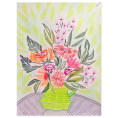 Affordable art to collect for your home. Lulie Wallace Floral Vase Print- II for Furbish Studio