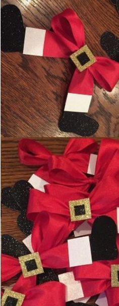 Cute ribbon DIY for Christmas.
