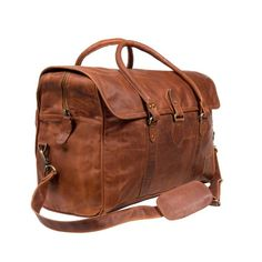 Strapped Weekender (vintage brown)