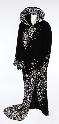 """Silver lamé wide pant out and black velvet cape worn by Julie Andrews as """"Gertrude Lawrence"""" when she models in a fashion show in Star (1968)"""