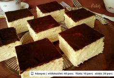 Skót krémes (citromos is lehet) Hungarian Desserts, Romanian Desserts, Hungarian Recipes, Sweet Cookies, Sweet Treats, Czech Desserts, Smoothie Fruit, Cookie Recipes, Dessert Recipes