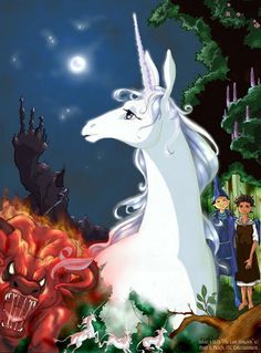 The Last Unicorn - one of my favorite childhood movies. My sisters use to get so sick of me playing this movie.