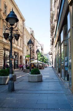 Street in the center of Belgrade, Serbia