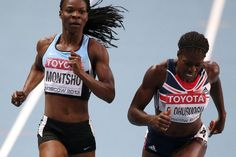 Christine Ohuruogu wins gold for Team GB in the 400 metres at the 2013 World Championships, just beating Montsho of Botswana.