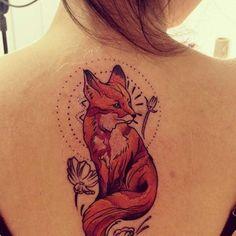 Red Fox Tattoo Design