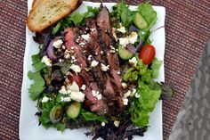 Flank Steak Salad. Review: I made the steak as suggested and the dressing as well. FABULOUS!