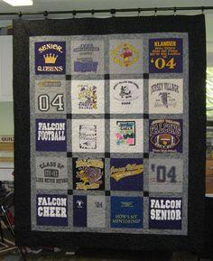 t shirt quilt.....all those little league baseball shirts