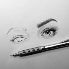 1814 Likes 7 Comments Sophie Lin ie soph on Pencil Art Drawings, Love Drawings, Drawing Sketches, Drawing Faces, Sketching, Eye Sketch, Arte Dna, Eyes Drawing Tumblr, Illusion Kunst