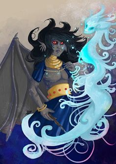 Skyeola and the Vapour Elemental from Key: Book One of Chronicles of the Children by Kylie Leane.