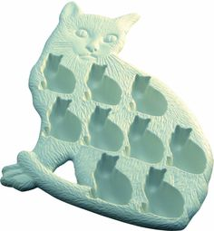 Lekue Classic Cat Ice Cube Tray, White