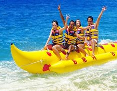 Banana Boat is Water Sport Activities to enjoy in inflatable recreational boat meant for towing by speed boat. Banana Boat riding is one of the spectacular water activities to explore the warm and blue seawater within 15 minutes on each trip