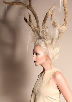 Antlers - Next Halloween costume! My hair could totally do this.