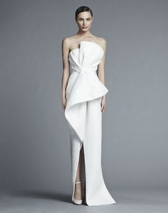 moderne Brautkleider Kollektion 2014 2015 schlichte Schnitte