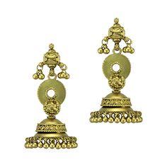 Stately Gold Jhumka   Devam Jewelry