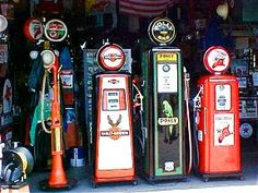 Vintage Gas Pumps at Shea's  Springfield IL