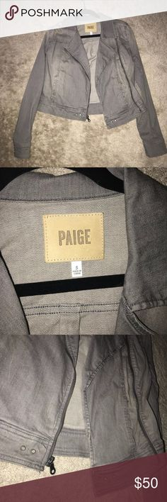 Paige Denim Jacket Paige grey denim jacket! Never worn, in excellent condition. Size small. A little big for me which is why I have not worn it. PAIGE Jackets & Coats Jean Jackets