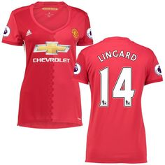 Jesse Lingard Manchester United adidas Women's 2016/17 Home Replica Jersey - Red
