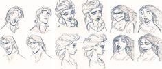 Mickey and Company Drawing Cartoon Faces, Disney Pixar, Wonders Of The World, Princesses, Jin, Cartoons, Character Design, Disney Princess, Amazing