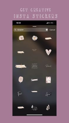 """Creative a stories, add a photo, select the GIF function and enter """" Vipapier"""" in Instagram Design, Instagram Blog, Ideas De Instagram Story, Instagram Editing Apps, Instagram Emoji, Creative Instagram Stories, Instagram And Snapchat, Instagram Quotes, Snapchat Stickers"""