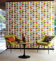 Orla Kiely wallpaper (MIdbec) - Husligheter.se NEED TO FIND A MORE AFFORDABLE ALTERNATIVE