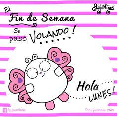 El fin de semana se pasó volando!...Hola Lunes! http://guyuminos.blogspot.mx/2015/09/el-fin-de-semana-se-paso-volandohola.html #findesemana #Lunes #mariposa #guyuminos