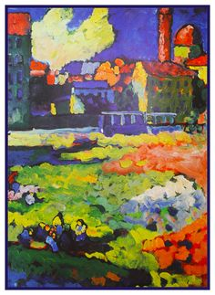The Church of St Ursula by Artist Wassily Kandinsky Counted Cross Stitch or Counted Needlepoint Pattern