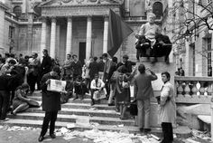 FRANCE. Paris. 5th arrondissement. The Sorbonne University occupied by students. May 14th, 1968.
