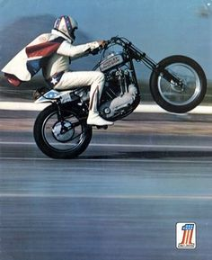 Evel Knievel. This guy did things on bikes that were unthinkable in his day. Bikes were just not designed to jump cars when Evil was doing it.