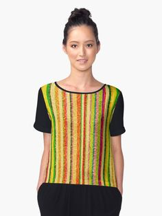 Colorful stripes are Layer over an abstract design pattern  of golden curls. • Also buy this artwork on apparel, stickers, phone cases, and more. At Redbubble by  by #Gravityx9 Designs