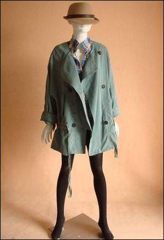Oversized coat green J089 / Fall coat/Jacket / trench by JulyS - StyleSays