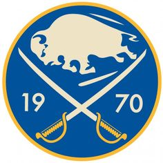 Buffalo Sabres Anniversary Logo on Chris Creamer's Sports Logos Page - SportsLogos. A virtual museum of sports logos, uniforms and historical items. Nhl Logos, Hockey Logos, Sports Team Logos, Sports Teams, Hockey Games, Ice Hockey, Bruins Hockey, Hockey Puck, Nhl Red Wings