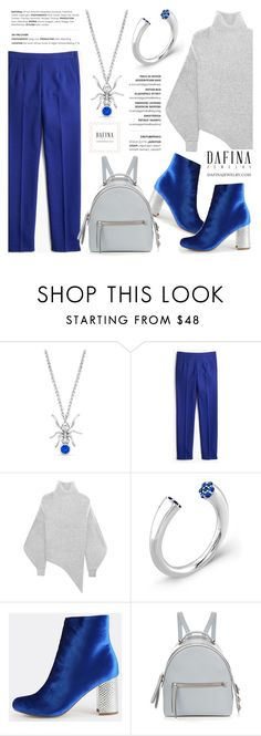 """""""Antropology"""" by helenevlacho ❤ liked on Polyvore featuring J.Crew, STELLA McCARTNEY, Fendi, ring, pendant, finejewelry and dafinajewelry"""