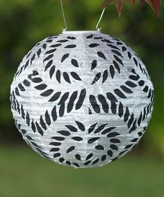 Take a look at this Black & White Round Soji Solar Lantern by Allsop Home & Garden on #zulily today!