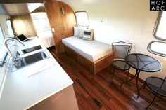 """This is a 1973 Airstream Sovereign """"Santa Rosa"""" you can actually stay and book her. If you would like to visit our website, there is many more! http://autocamp.com"""