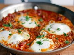 Dinner Tonight: Moroccan Ragout with Poached Eggs aka Eggs in Purgatory Egg Recipes, Mexican Food Recipes, Cooking Recipes, Healthy Recipes, Ethnic Recipes, Cooking Tips, Recipes Dinner, Dinner Ideas, Cooking Nytimes