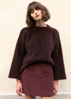 Burgundy Corduroy Mini Skirt – The Frankie Shop