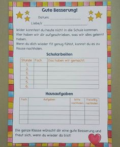 Dieses Blatt kommt in die Krankenmappe, damit Eltern und Kinder genau wissen, wa… Schule – This sheet comes in the ambulance, so parents and children know exactly, wa … – Primary School – order to Back To School Clipart, Back To School Art, Back To School Bulletin Boards, Ambulance, Back To School Bullet Journal, Back To School Checklist, Back To School Backpacks, Halloween Celebration, Back To School Activities