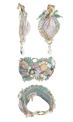 Jewelry Design - Bracelet and Earring Set with Swarovski Crystal, Seed Beads and Silk Fabric - Fire Mountain Gems and Beads