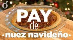 Pay de nuez navideño