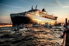 Tschüß, Queen Mary 2 #Hamburg #Germany