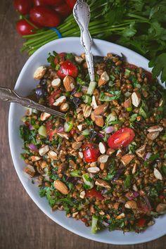 Summer Herb Wheat Berry Salad
