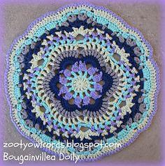 Bougainvillea Doily Free ✿⊱╮Teresa Restegui http://www.pinterest.com/teretegui/✿⊱╮