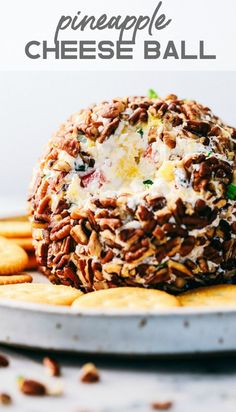 Pineapple Cheese Ball is the next best twist on a favorite classic. With Different textures and flavors it will be the hit at your next gathering! Appetizers For Party, Appetizer Recipes, Shrimp Appetizers, Dips, Cheese Ball Recipes, Hawaiian Cheese Ball Recipe, Cooking For One, Balls Recipe, Light Recipes