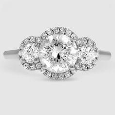 Three stone halo diamond ring in 14 carat rose gold ct. Art Deco Diamond Rings, Antique Diamond Rings, White Diamond Ring, Diamond Wedding Rings, Halo Diamond, Wedding Bands, Best Engagement Rings, Platinum Engagement Rings, Antique Engagement Rings