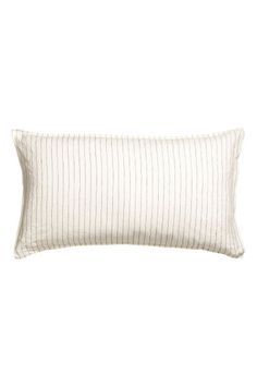 Check this out! PREMIUM QUALITY. Striped pillowcase in washed linen with double-stitched edges. Thread count 104. Tumble drying will help keep linen soft. - Visit hm.com to see more.
