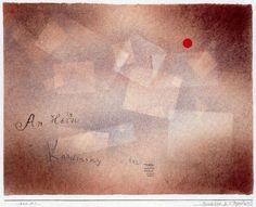Paul Klee - Postal para el 60 cumpleaños de Kandinsky