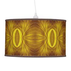 Beautiful golden light fractal Golden Light Fractal Hanging Lamp by kahmier